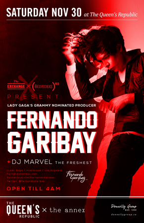 Fernando Garibay, DJ Marvel at The Queens Republic Vancouver