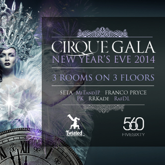 New Year's Eve Vancouver event with SETA, MiTandJP, Franco Pryce, PK, RRKade, RafDL at FIVE SIXTY