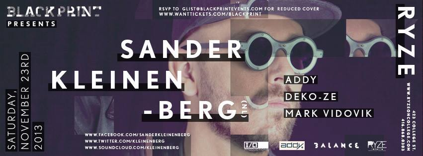 Sander Kleinenberg, Addy with Deko-Ze in Toronto at Ryze
