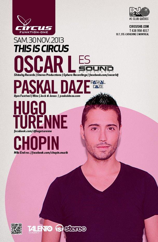 Oscar L, Paskal Daze, Hugo Turenne, Chopin at Circus Afterhours Montreal