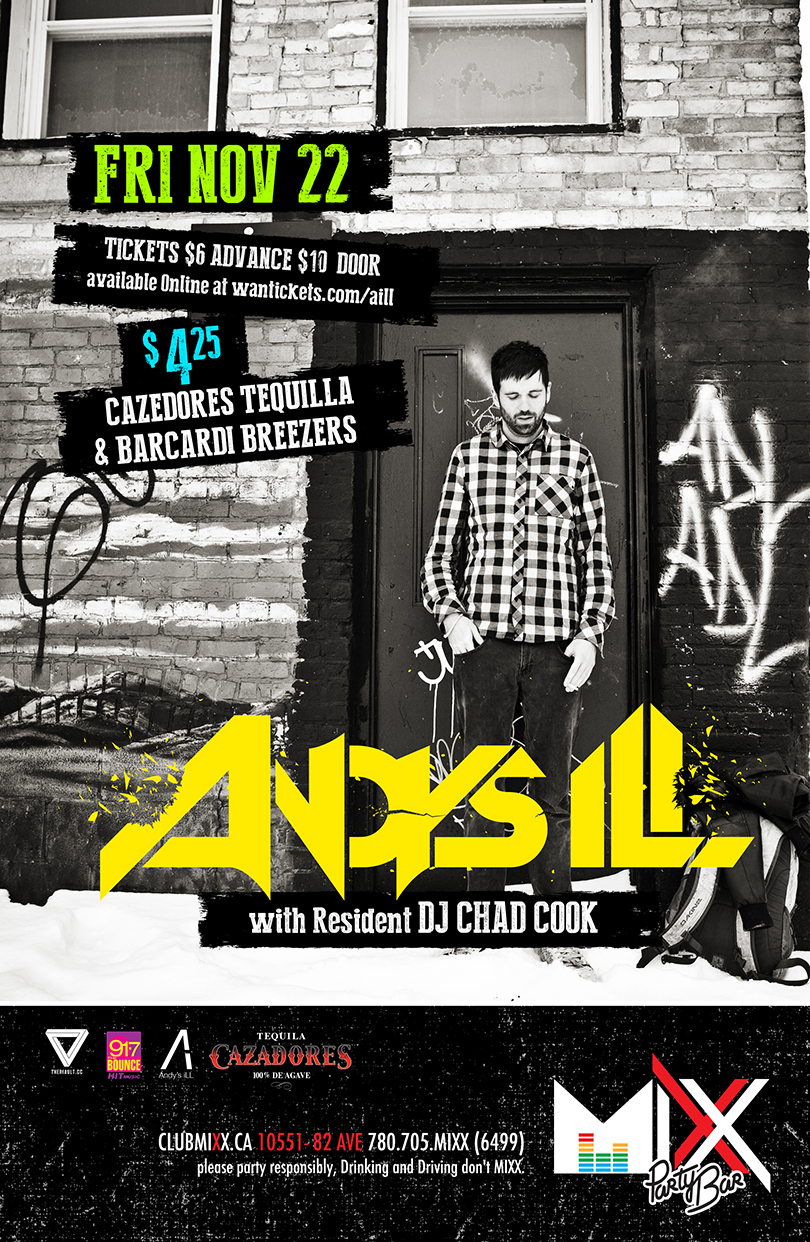 Andy's Ill, DJ Chad Cook Mixx Party Bar in Edmonton