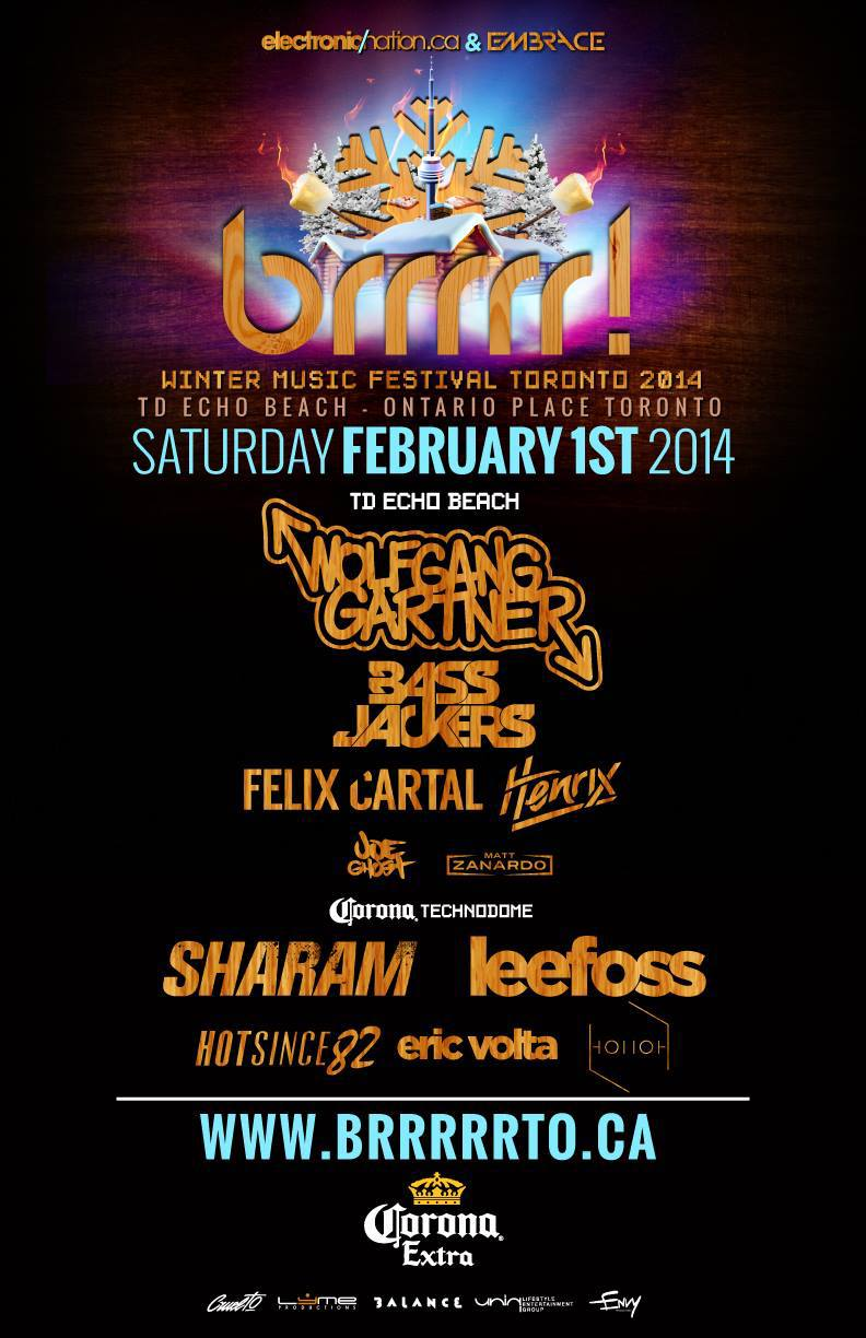 Brrrrr festival featuring Wolfgang Gartner and Sharam