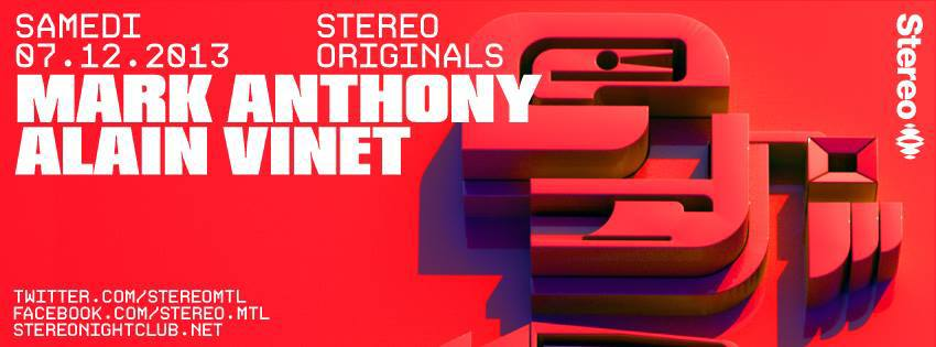 Mark Anthony w/ Alain Vinet at Stereo in Montreal