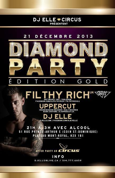 Filthy Rich w/ Uppercut, DJ Elle in Montreal