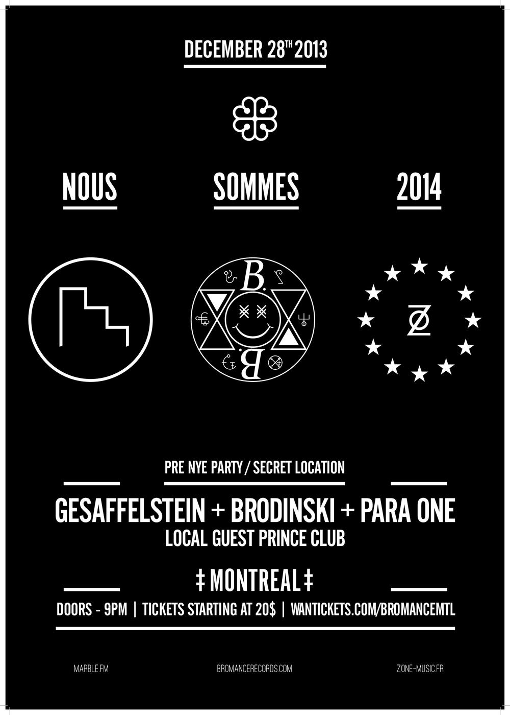 Gesaffelstein, Brodinski w/ Para One in Montreal