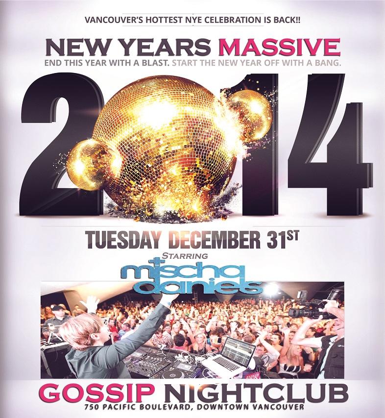 Mischa Daniel New Year's Eve in Vancouver at Gossip