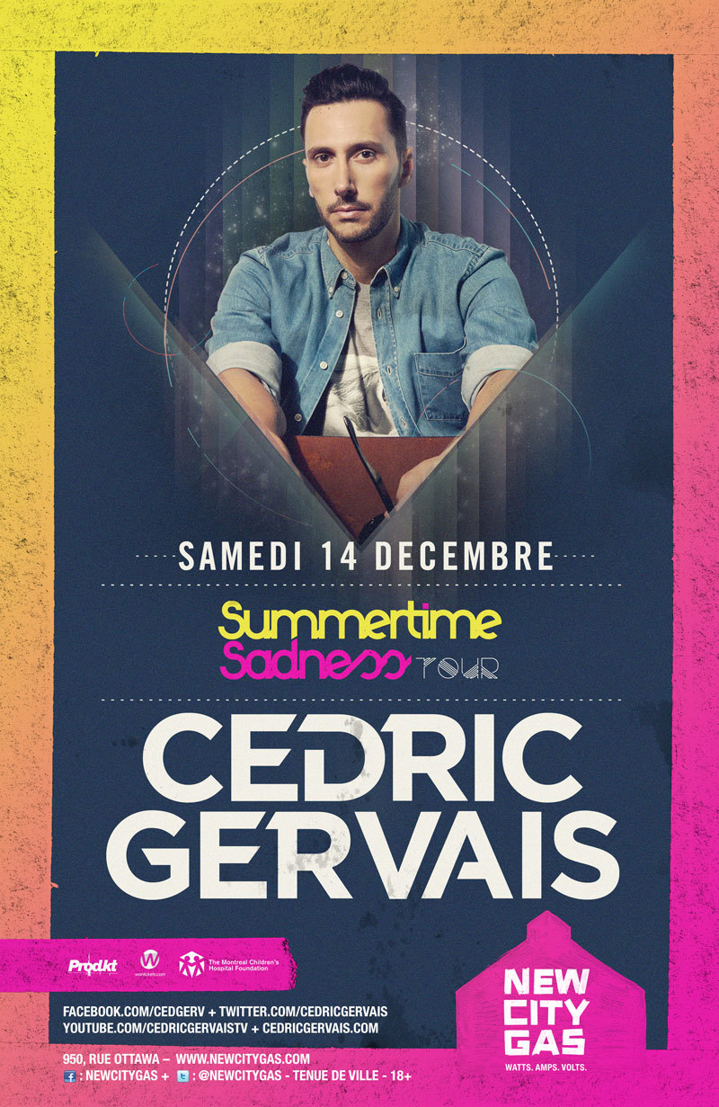 Cedric Gervais at New City Gas in Montreal