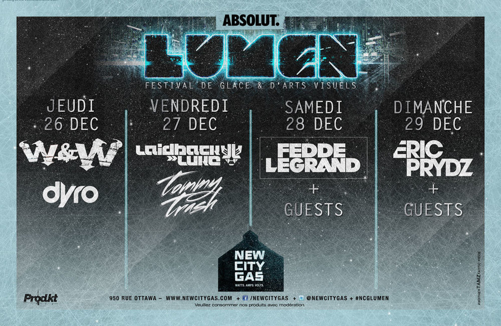 W&W, Dyro, Laidback Luke, Tommy Trash, Fedde Le Grand and Eric Prydz for Lumen 2013 at New City Gas