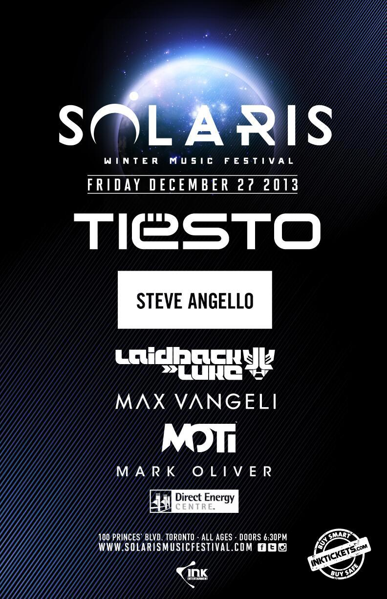 Tiesto and Steve Angello at the Solaris Winter Music Festival in Toronto