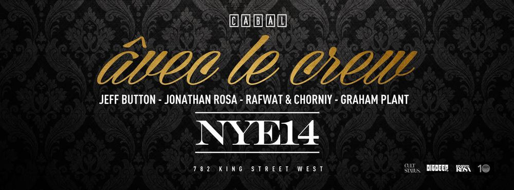 New Year's eve party featuring Jeff Button, Jonathan Rosa, Rafwat & Chorniy in Toronto