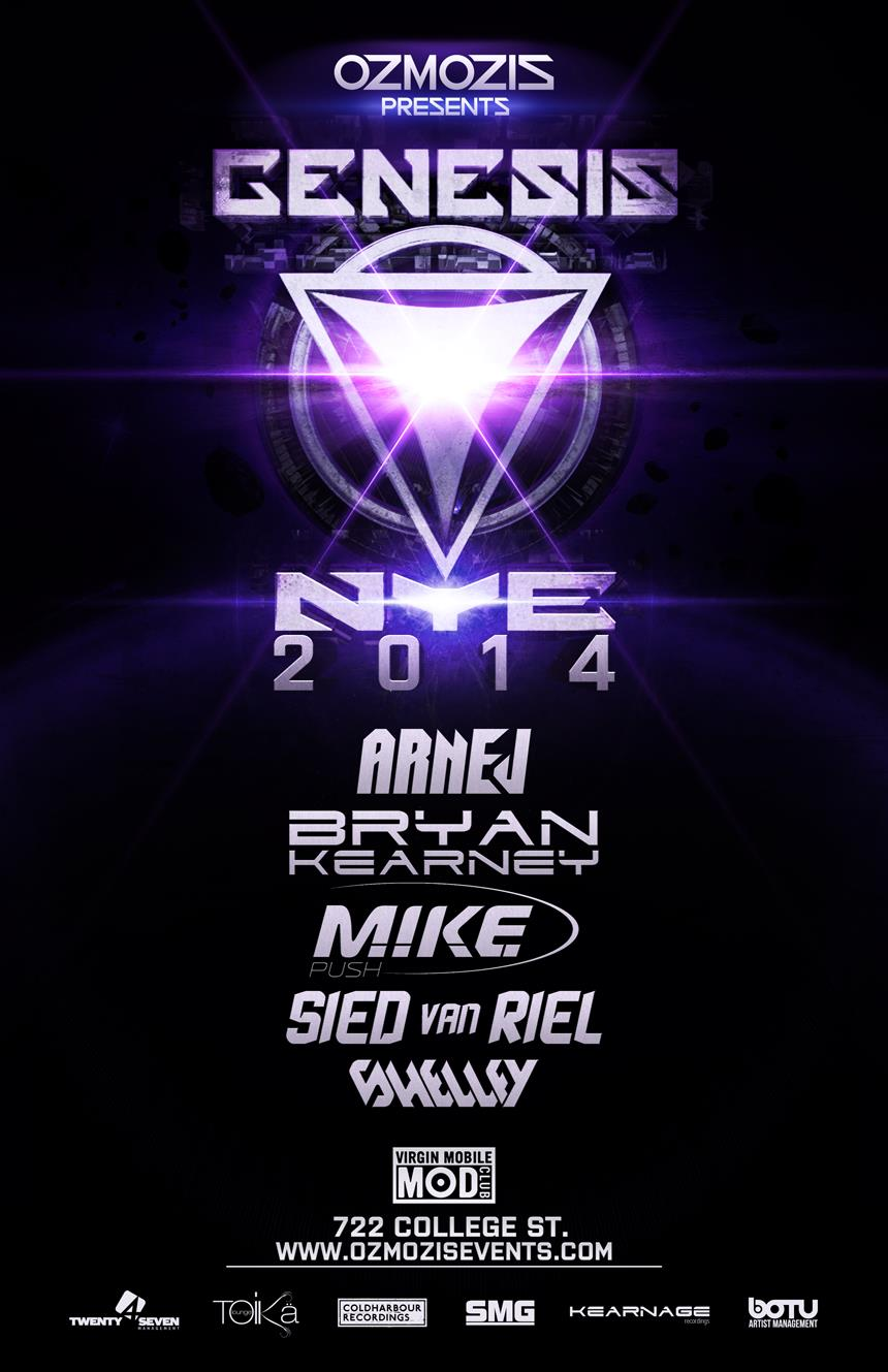 Bryan Kearney, M.I.K.E. Push, Sied Van Riel, Shelley Johannson at Mod Club Toronto New Year's Eve