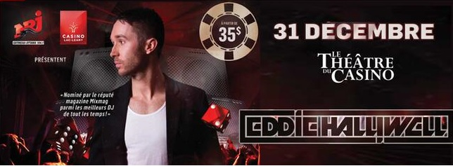 Eddie Halliwell New Year's Eve Ottawa/Gatineau at Casino Lac Leamy