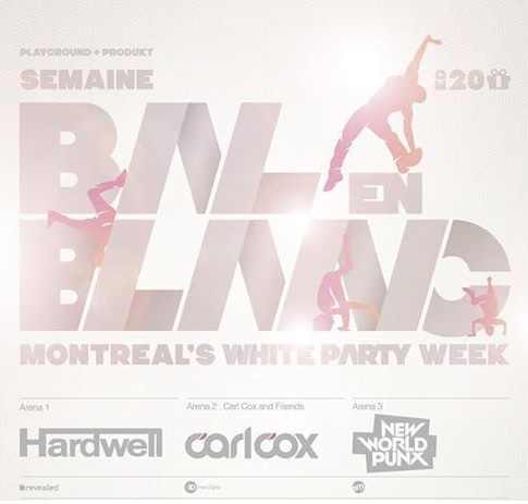 Bal en Blanc 2014 in Montreal with Hardwell/Carl Cox/New World Punx