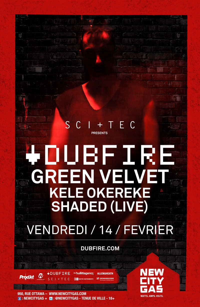 Dubfire w/ Green Velvet, Kele Okereke at New City Gas in Montreal