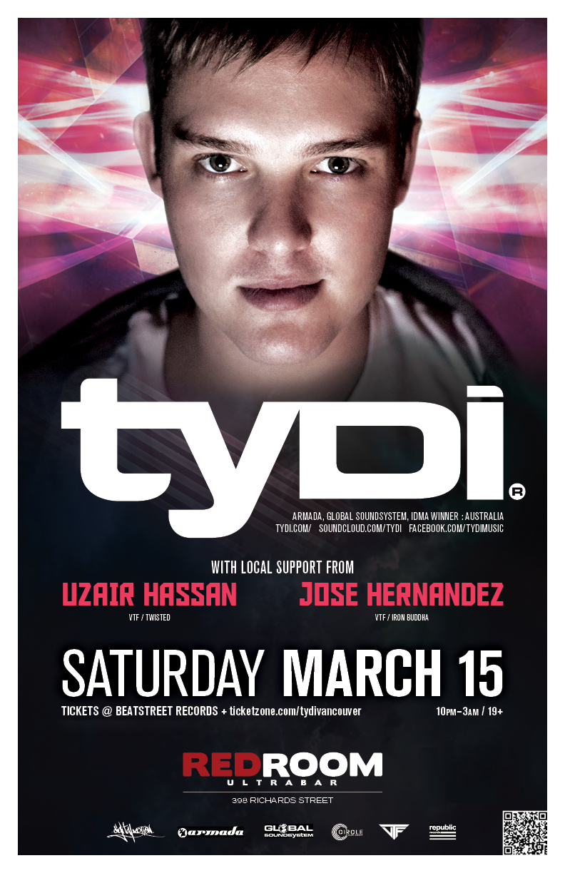 Tydi in Vancouver at Red Room Ultra Bar