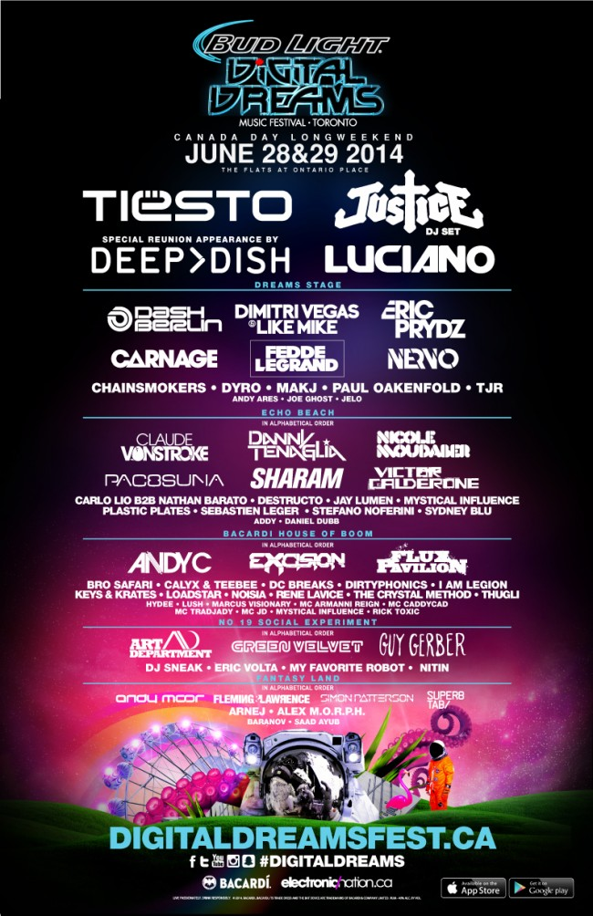 Digital Dreams Music Festival in Toronto 2014 (Click to zoom)