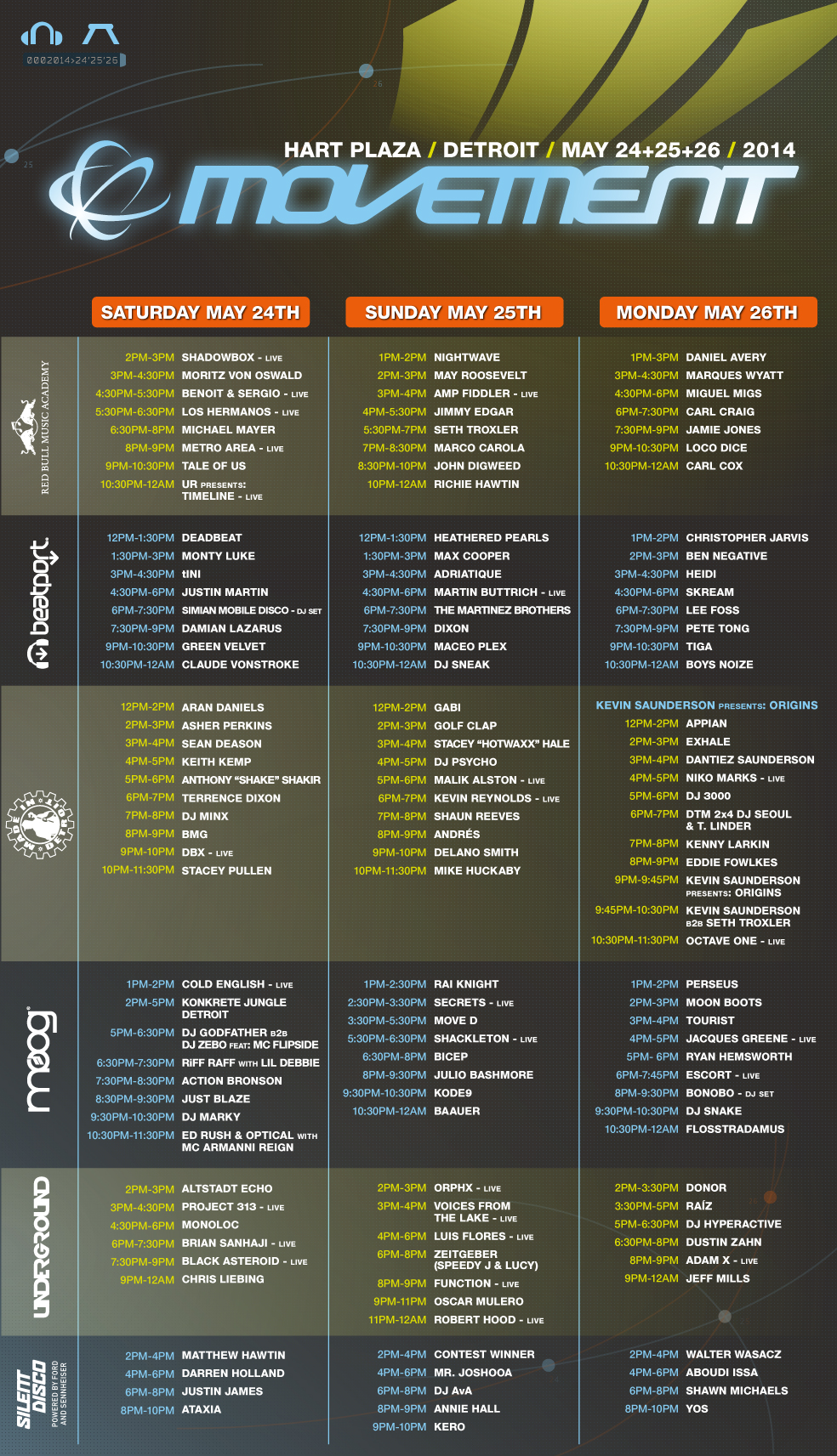 Source:http://www.movement.us/schedule (Click to Zoom)