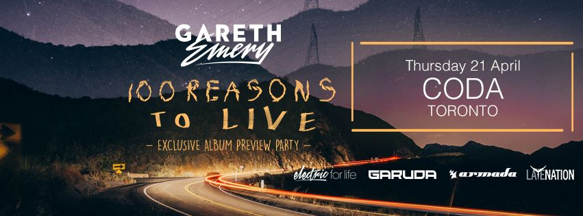 Thursday, April 21st - Gareth Emery's Exclusive Album Preview Party