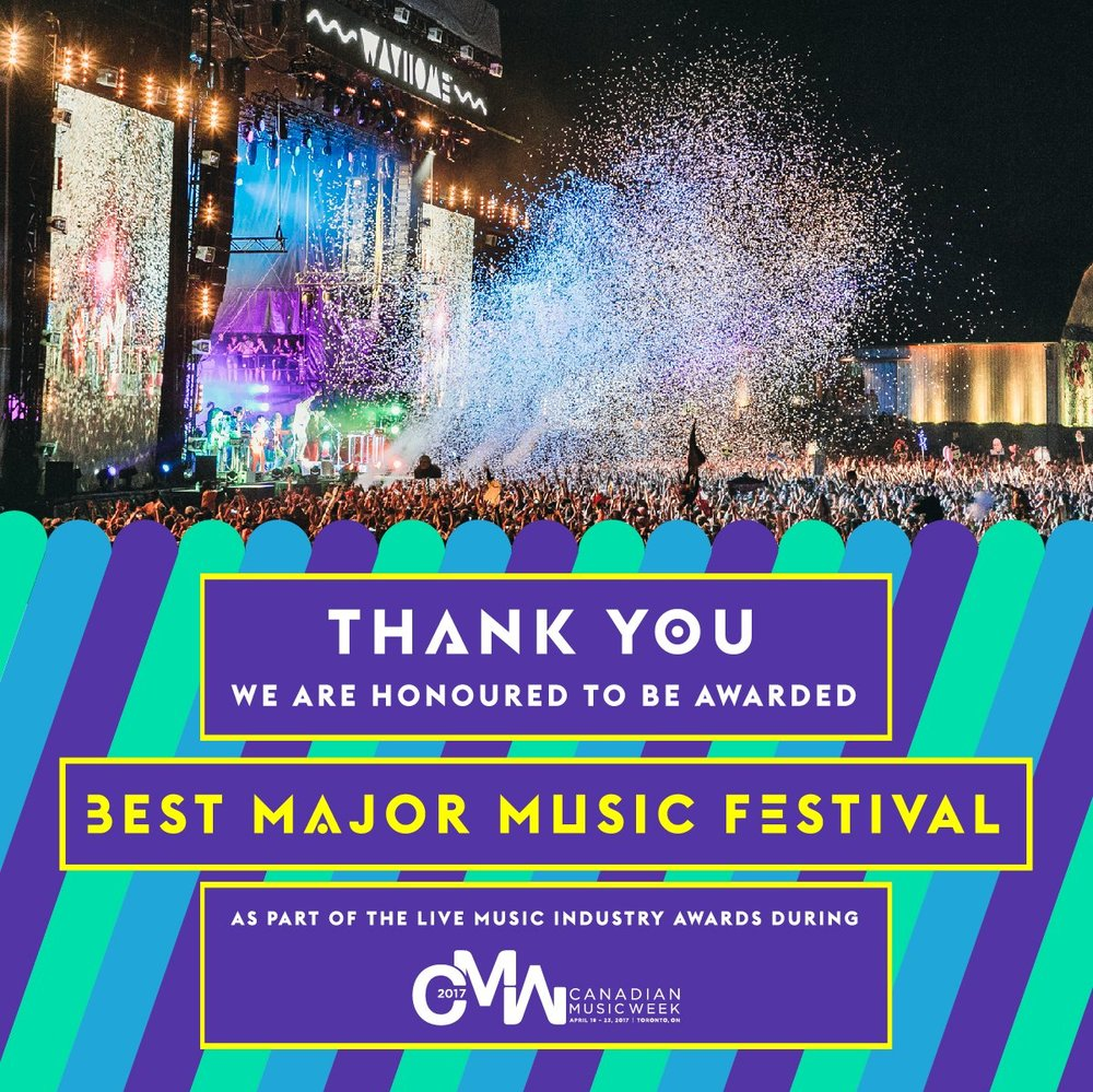 WayHome wins best major music festival award at Canadian Music Week