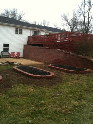 Retaining wall- raised Bed flower garden.JPG