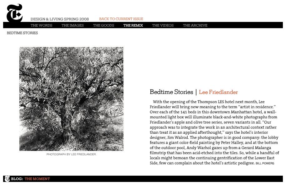 """Bedtime Stories,"" T Magazine"