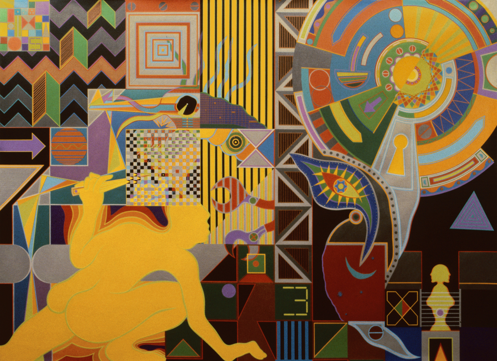 Breeder, 1983-1984, Acrylic on Canvas, 52 X 72 in.