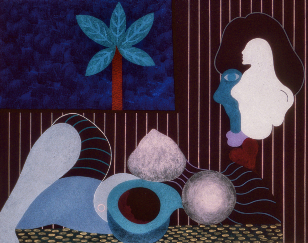The Palm Tree, 1982, Acrylic on Canvas, 24 X 30 in.