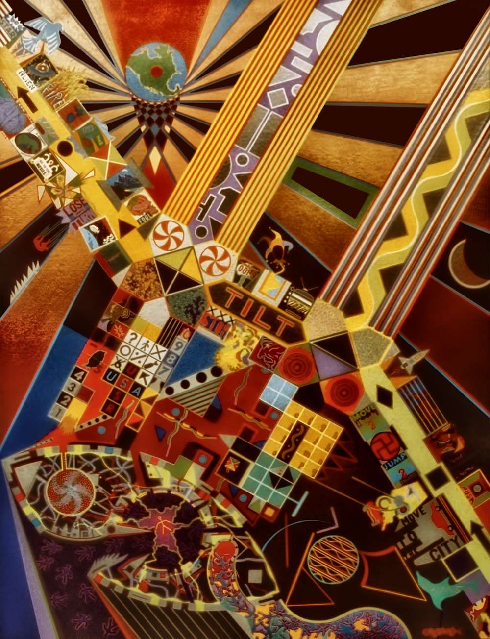 Tilt, 1983-1984, Acrylic on Canvas, 70 X 52 in.