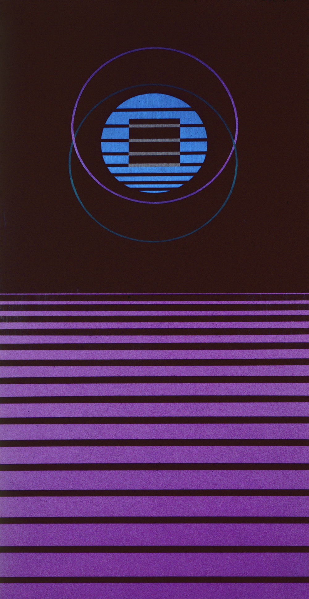 Binary, 1985, Acrylic on Masonite, 48 X 24 in.
