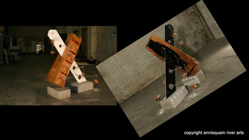 In the Balance 2010  Wood, Aluminum, Copper, Salt & Awlgrip  H.5.6' x W.2.1' x D.3.7'