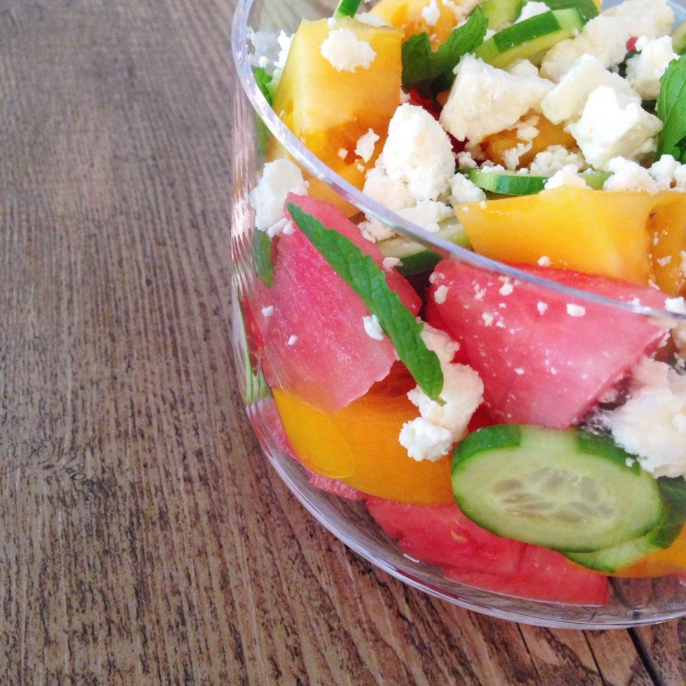Watermelon Feta Salad | RafaellaSargi.com