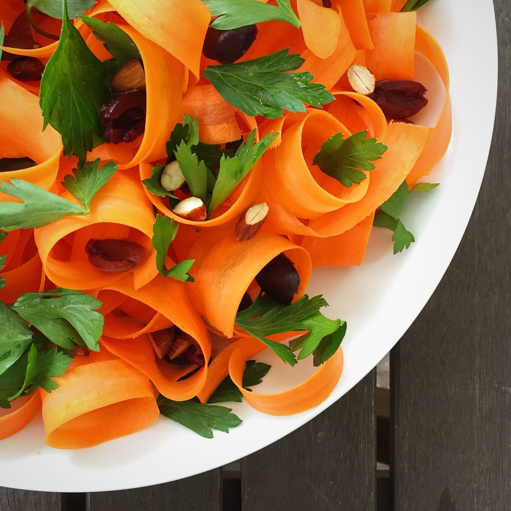 Shaved Carrot Salad | RafaellaSargi.com