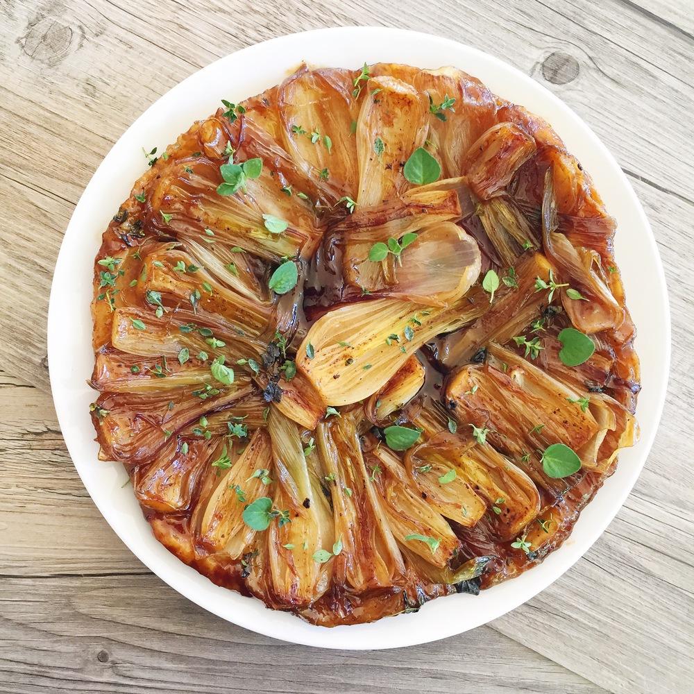 Spring Onion Tarte Tatin | RafaellaSargi.com
