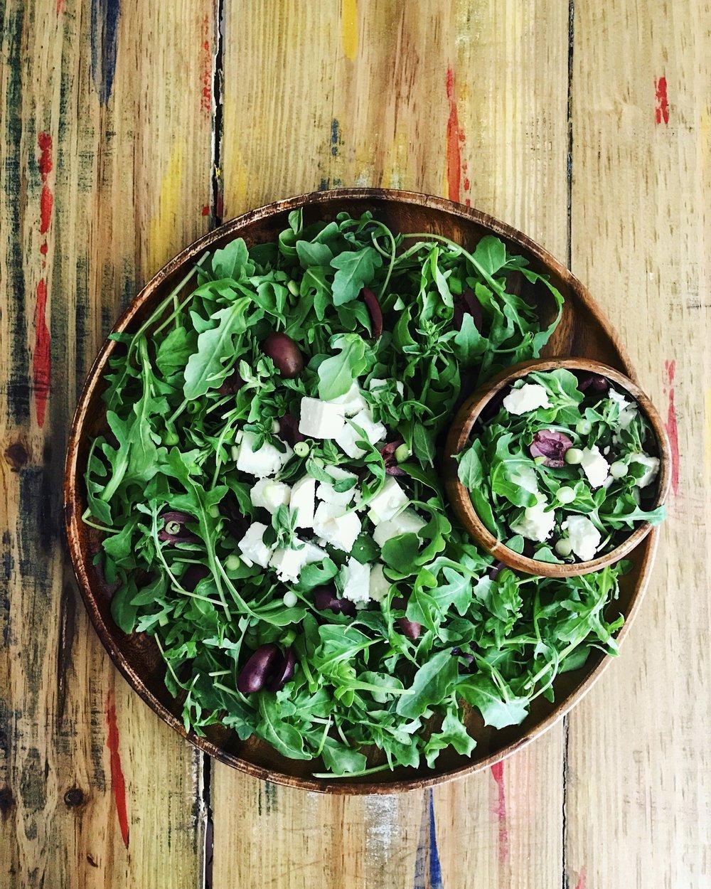 Arugula Oregano Salad | RafaellaSargi.com