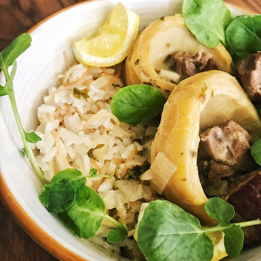 Lemony Artichoke Stew | RafaellaSargi.com