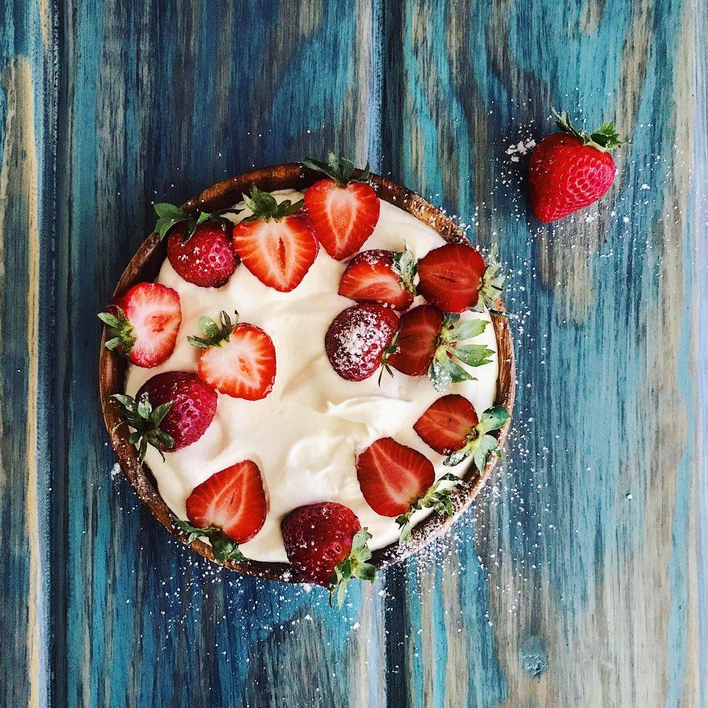 Magic Strawberries with Orange Blossom Cream | RafaellaSargi.com