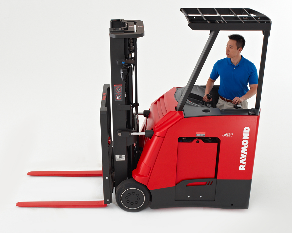 Raymond Stand Up Counterbalanced Forklift Brownlie