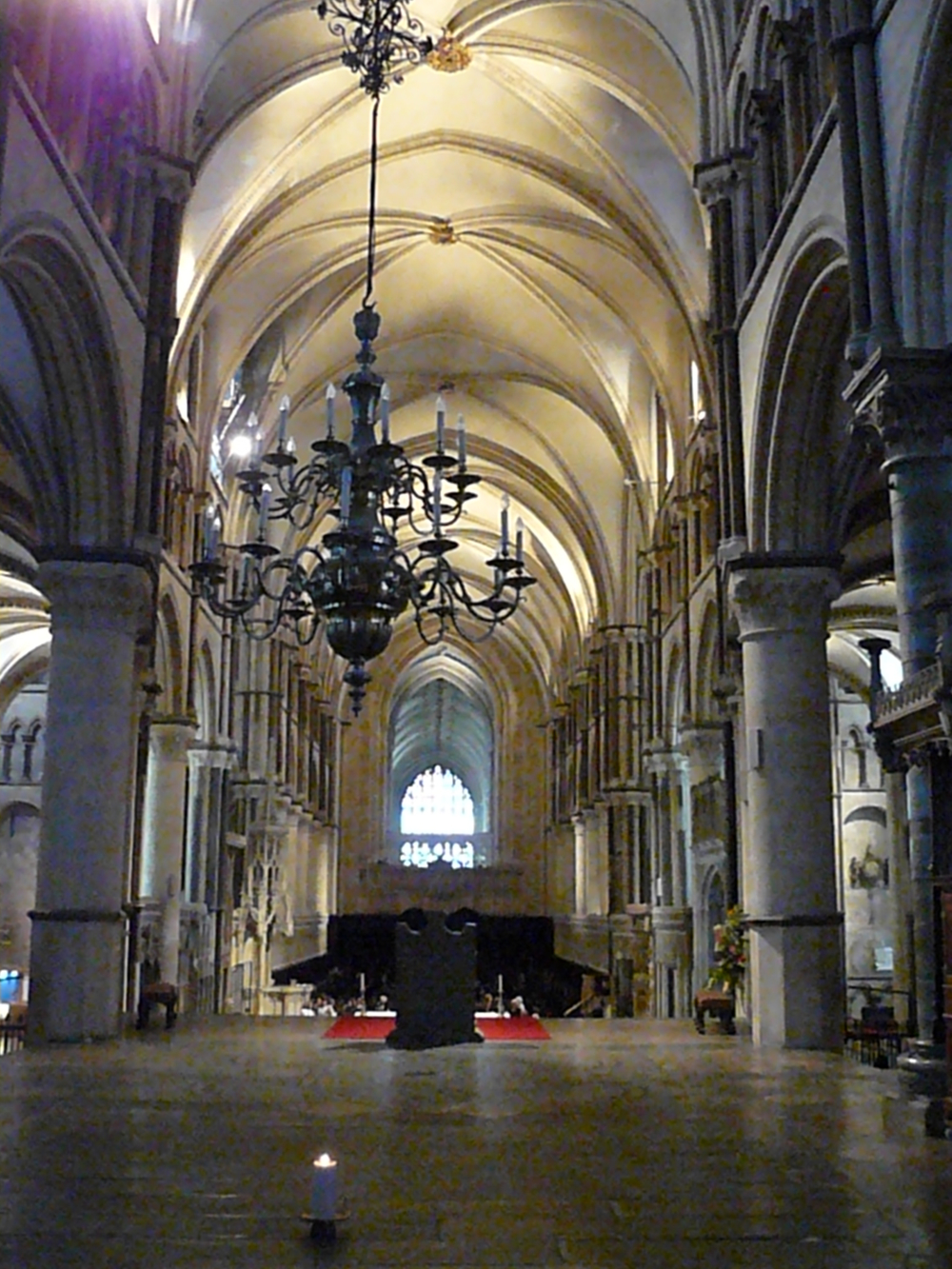 A view from behind the alter in Canterbury Cathedral.