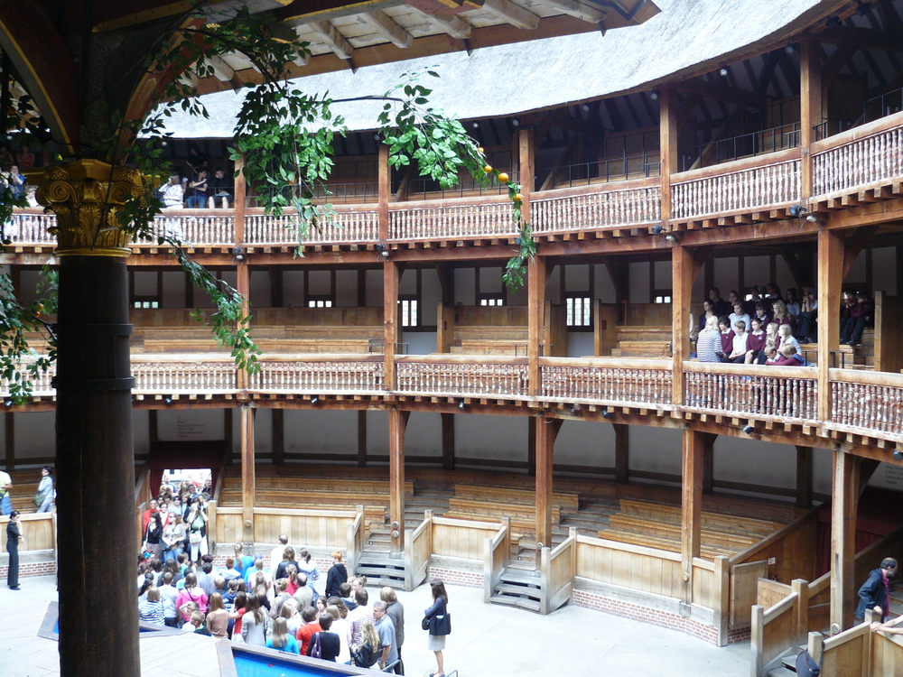 The interior of Shakespeare's Globe Theatre.