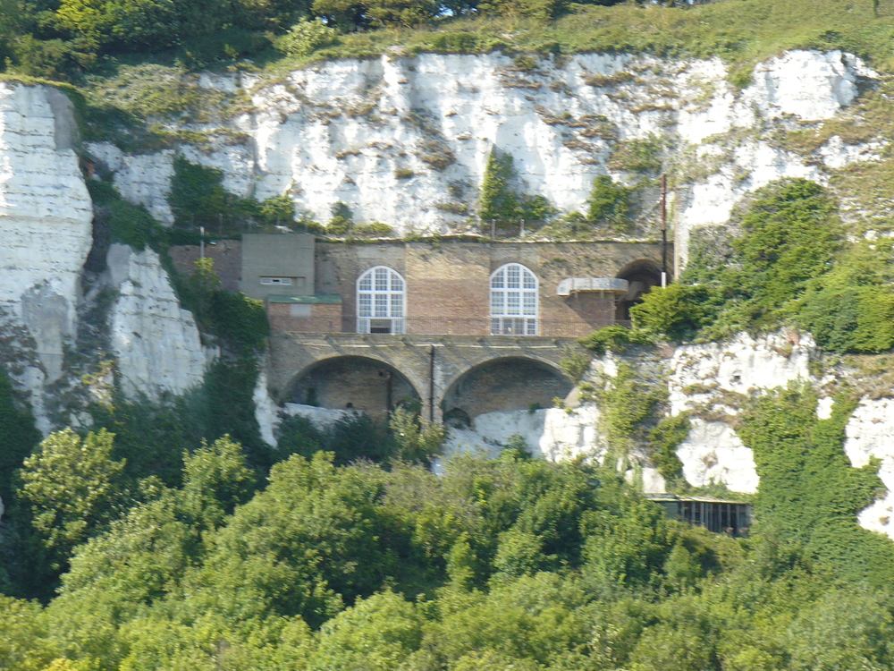 Churchill's WWII command bunker built into the cliffs at Dover.