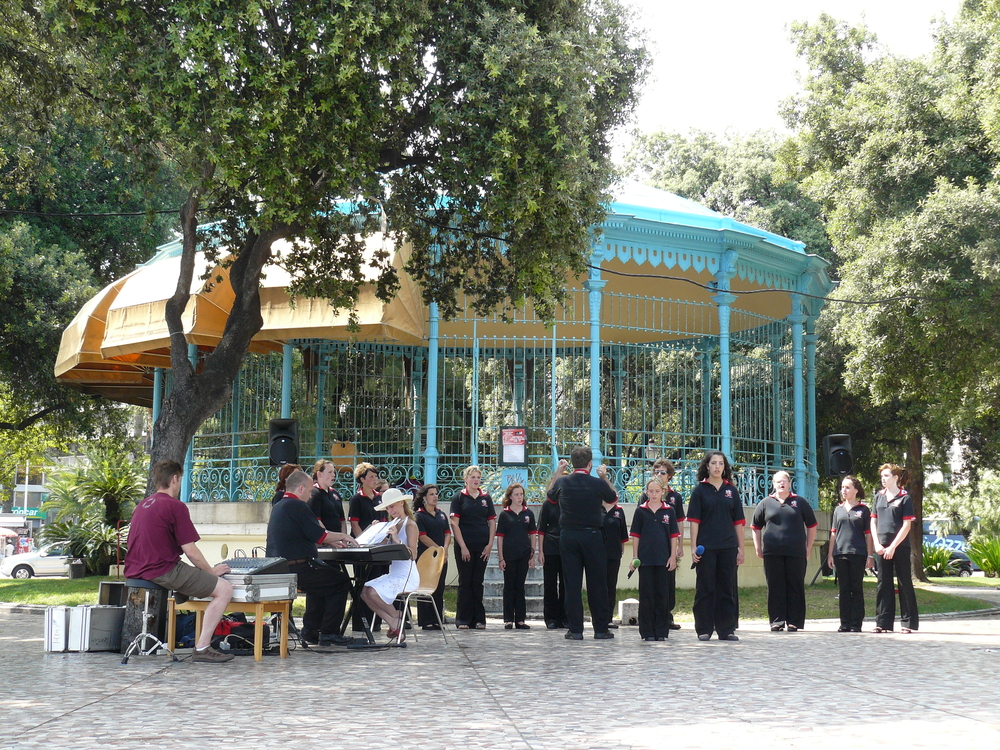 Performance at the Music Kiosk in the park.