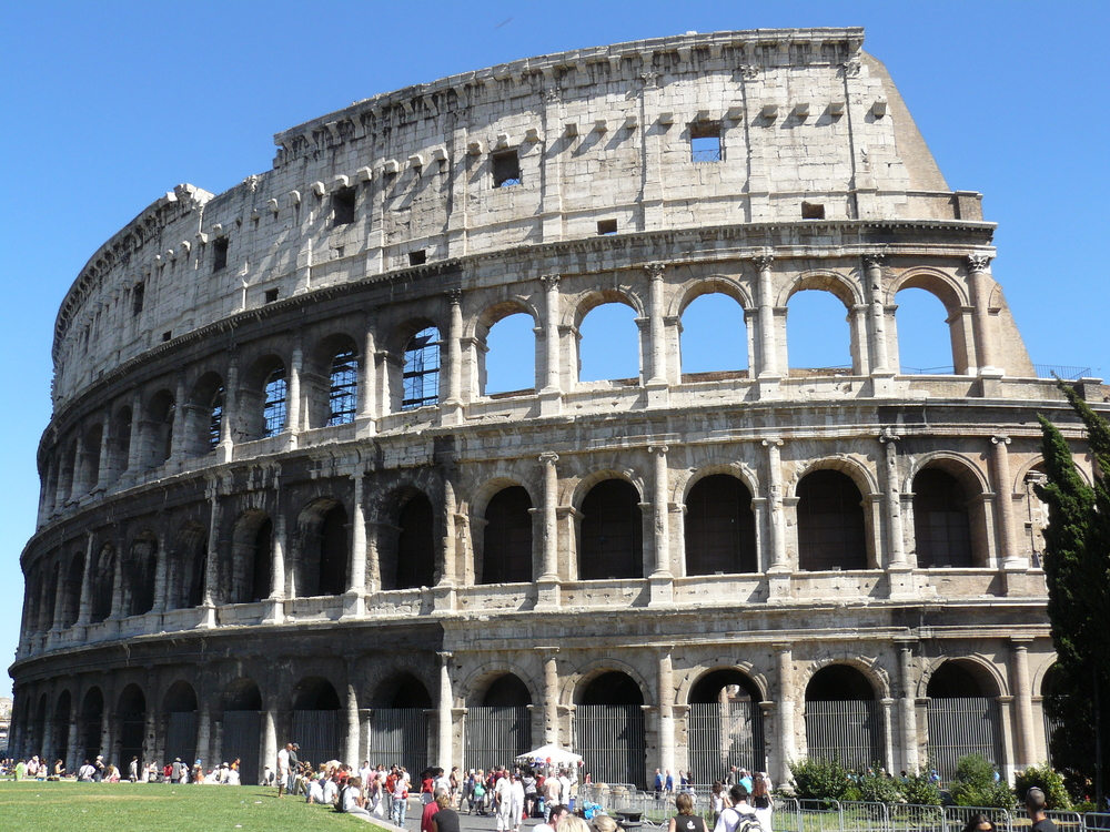 We went through the Colosseum. Strange to think of what actually happened within those walls!
