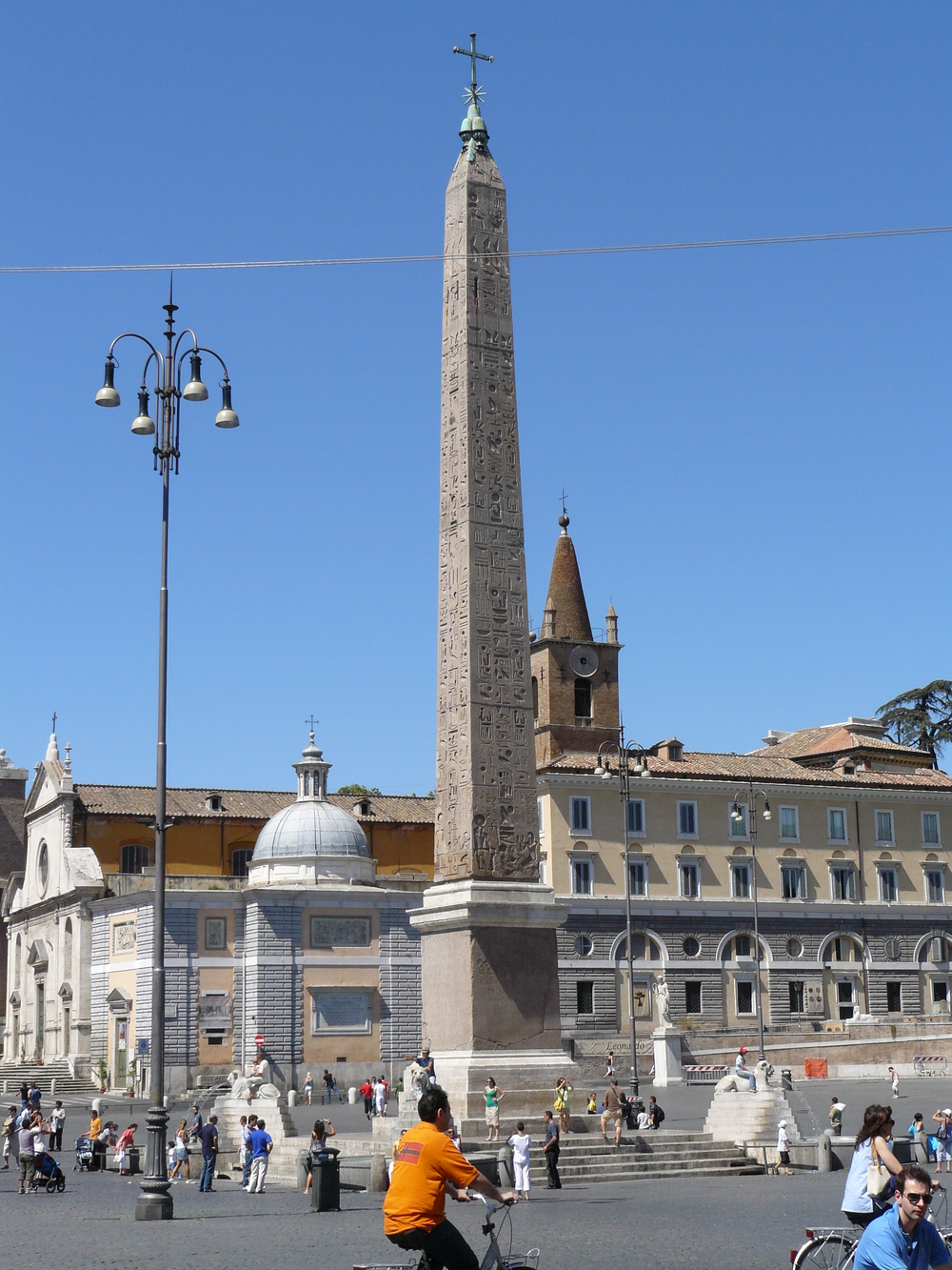 The Obelisk of Rameses II. In 30 BC Augustus brought it to Rome where it was put at the center of Cirus Maximus. In 1589 it was moved to the Piazza del Popolo. Where it stands today.