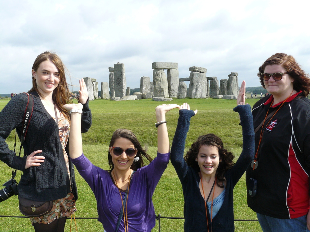 Helping out the stones at Stonehenge.
