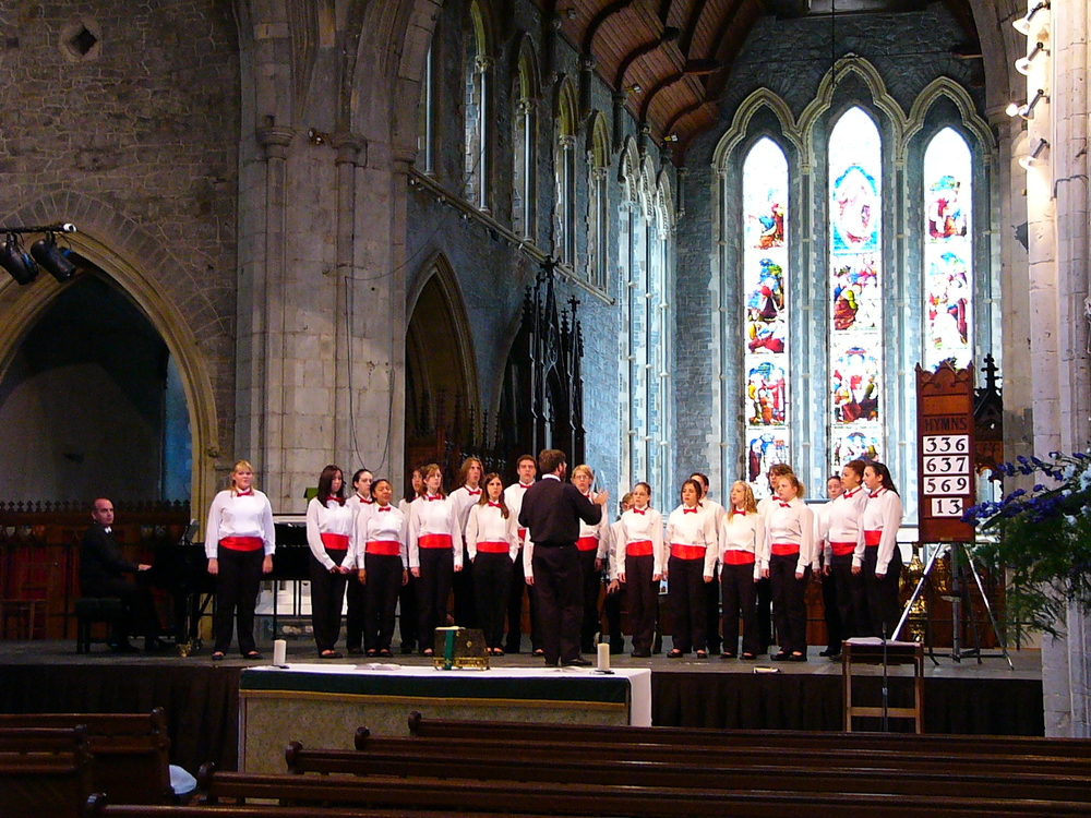 Our final performance at St. Canice's Cathedral in Kilkenny, Ireland.