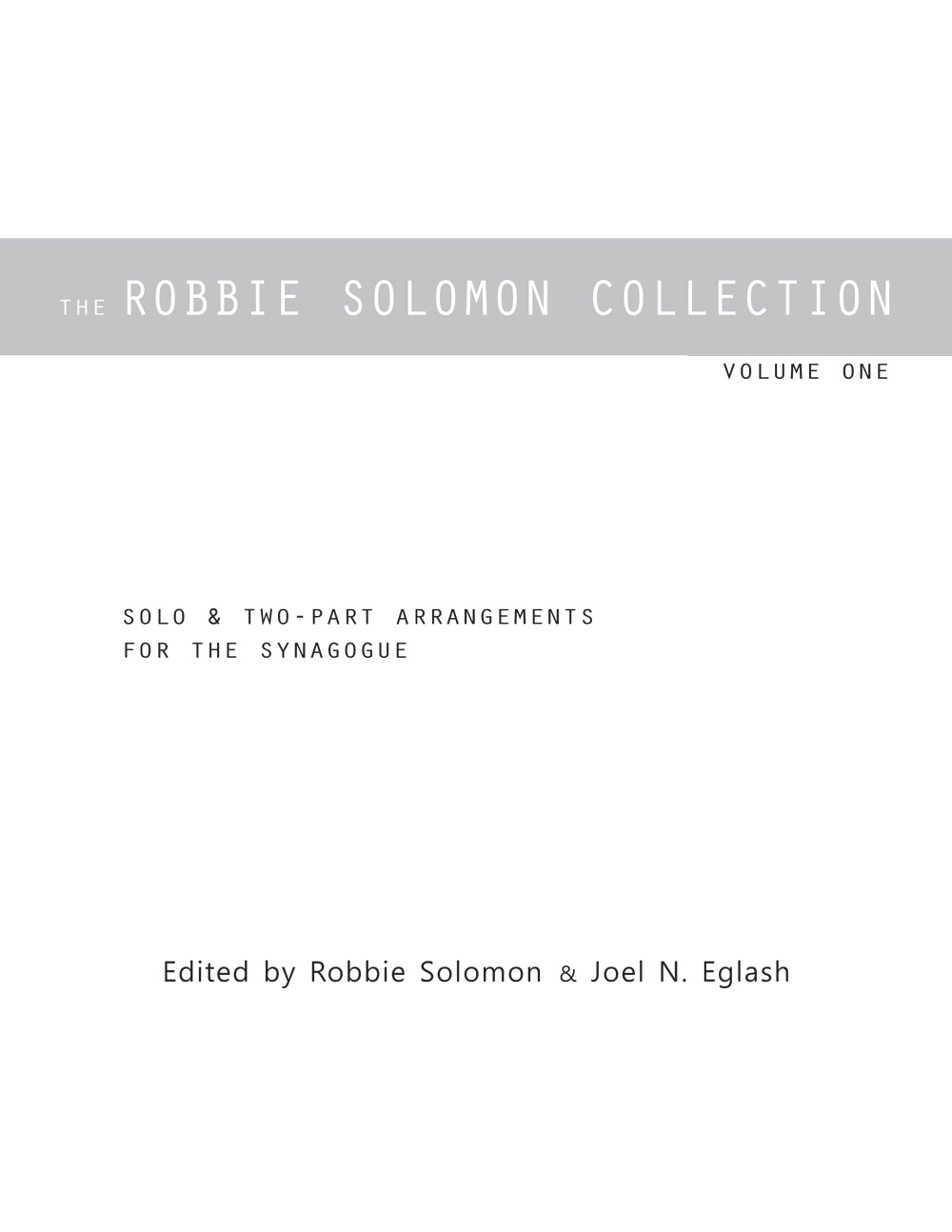 Robbie Solomon Solo Collection