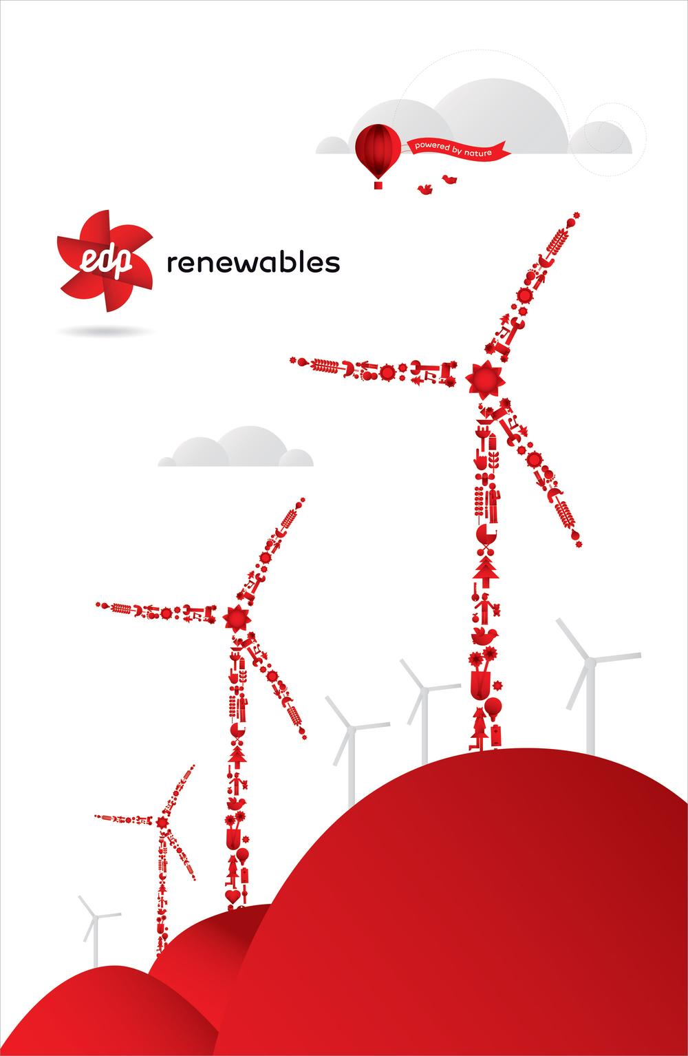 "EDP Renewables  51.5"" x 79"" Bannerstand"