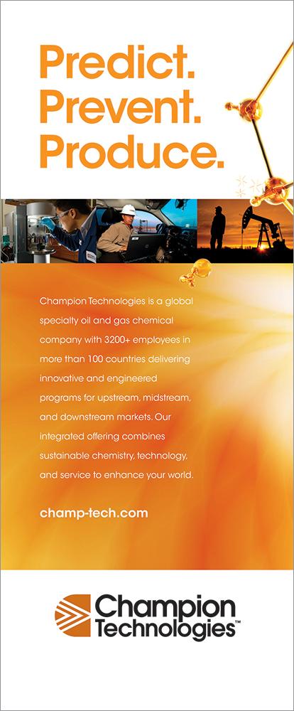 "Champion Technologies  33"" x 79.25"" Bannerstand"