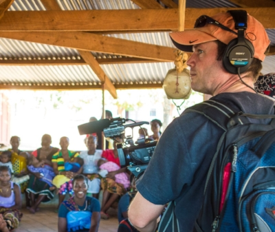 tim filming in mandimba, mozambique