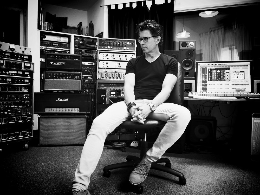 Michael Carey in the studio